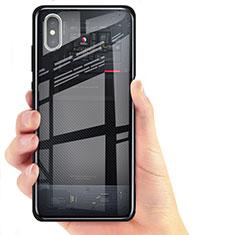 Xiaomi Mi 8 Pro Global Version用極薄ソフトケース シリコンケース 耐衝撃 全面保護 クリア透明 T02 Xiaomi ブラック