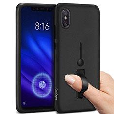 Xiaomi Mi 8 Pro Global Version用ハイブリットバンパーケース プラスチック アンド指輪 Xiaomi ブラック