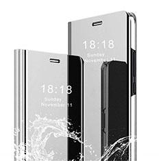 Xiaomi Mi 8 Pro Global Version用手帳型 レザーケース スタンド 鏡面 カバー Xiaomi シルバー