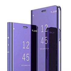 Xiaomi Mi 8 Pro Global Version用手帳型 レザーケース スタンド 鏡面 カバー Xiaomi パープル