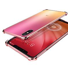 Xiaomi Mi 8 Screen Fingerprint Edition用極薄ソフトケース シリコンケース 耐衝撃 全面保護 クリア透明 H01 Xiaomi ローズゴールド