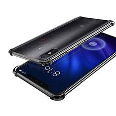 Xiaomi Mi 8 Screen Fingerprint Edition用極薄ソフトケース シリコンケース 耐衝撃 全面保護 クリア透明 H01 Xiaomi ブラック
