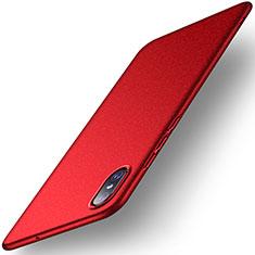 Xiaomi Mi 8 Screen Fingerprint Edition用ハードケース プラスチック 質感もマット M02 Xiaomi レッド
