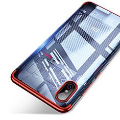 Xiaomi Mi 8 Screen Fingerprint Edition用極薄ソフトケース シリコンケース 耐衝撃 全面保護 クリア透明 T06 Xiaomi レッド