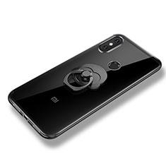 Xiaomi Mi 8 SE用極薄ソフトケース シリコンケース 耐衝撃 全面保護 アンド指輪 バンパー Xiaomi クリア