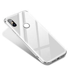 Xiaomi Mi 8 SE用ハイブリットバンパーケース プラスチック 鏡面 カバー Xiaomi ホワイト