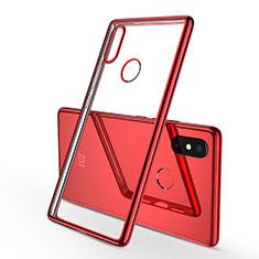 Xiaomi Mi 8 SE用極薄ソフトケース シリコンケース 耐衝撃 全面保護 クリア透明 H01 Xiaomi レッド