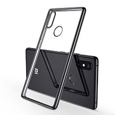 Xiaomi Mi 8 SE用極薄ソフトケース シリコンケース 耐衝撃 全面保護 クリア透明 H01 Xiaomi ブラック