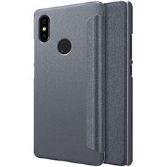 Xiaomi Mi 8 SE用手帳型 レザーケース スタンド Xiaomi ブラック