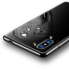 Xiaomi Mi 8 SE用極薄ソフトケース シリコンケース 耐衝撃 全面保護 クリア透明 T07 Xiaomi ブラック