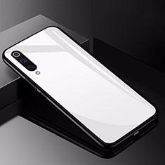 Xiaomi Mi 9用ハイブリットバンパーケース プラスチック 鏡面 カバー Xiaomi ホワイト