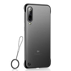 Xiaomi Mi 9用極薄ケース クリア透明 プラスチック 質感もマットU01 Xiaomi ブラック