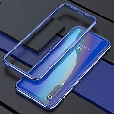 Xiaomi Mi 9用ケース 高級感 手触り良い アルミメタル 製の金属製 バンパー カバー Xiaomi ネイビー