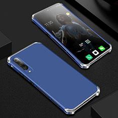 Xiaomi Mi 9用ケース 高級感 手触り良い アルミメタル 製の金属製 カバー Xiaomi ネイビー
