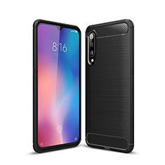 Xiaomi Mi 9用シリコンケース ソフトタッチラバー ライン カバー Xiaomi ブラック