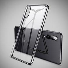 Xiaomi Mi 9 Lite用極薄ソフトケース シリコンケース 耐衝撃 全面保護 クリア透明 H05 Xiaomi ブラック