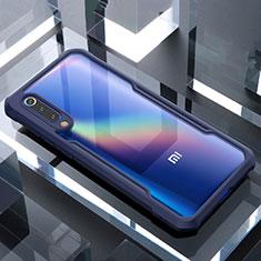 Xiaomi Mi 9 Lite用ハイブリットバンパーケース クリア透明 プラスチック 鏡面 カバー M02 Xiaomi ネイビー