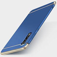 Xiaomi Mi 9 Lite用ケース 高級感 手触り良い メタル兼プラスチック バンパー M01 Xiaomi ネイビー