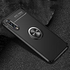 Xiaomi Mi 9 Pro 5G用極薄ソフトケース シリコンケース 耐衝撃 全面保護 アンド指輪 マグネット式 バンパー Xiaomi ブラック