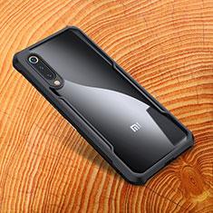Xiaomi Mi 9 SE用シリコンケース ソフトタッチラバー 鏡面 M01 Xiaomi ブラック