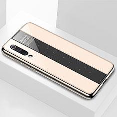 Xiaomi Mi 9 SE用ハイブリットバンパーケース プラスチック 鏡面 カバー M02 Xiaomi ゴールド
