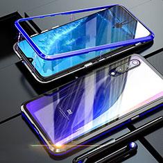 Xiaomi Mi 9 SE用ケース 高級感 手触り良い アルミメタル 製の金属製 360度 フルカバーバンパー 鏡面 カバー M01 Xiaomi ネイビー