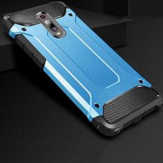 Xiaomi Mi 9T用360度 フルカバー極薄ソフトケース シリコンケース 耐衝撃 全面保護 バンパー Xiaomi ネイビー
