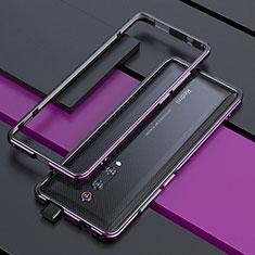 Xiaomi Mi 9T用ケース 高級感 手触り良い アルミメタル 製の金属製 バンパー カバー Xiaomi パープル