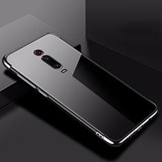 Xiaomi Mi 9T用極薄ソフトケース シリコンケース 耐衝撃 全面保護 クリア透明 H02 Xiaomi ブラック
