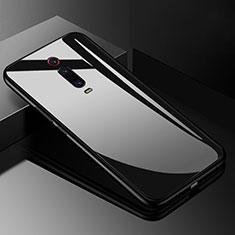 Xiaomi Mi 9T Pro用ハイブリットバンパーケース プラスチック 鏡面 カバー T03 Xiaomi ブラック