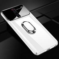 Xiaomi Mi 9T Pro用ハードケース プラスチック 質感もマット アンド指輪 マグネット式 P01 Xiaomi ホワイト