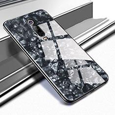 Xiaomi Mi 9T Pro用ハイブリットバンパーケース プラスチック 鏡面 カバー T04 Xiaomi ブラック