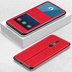 Xiaomi Mi 9T Pro用手帳型 レザーケース スタンド カバー T02 Xiaomi レッド