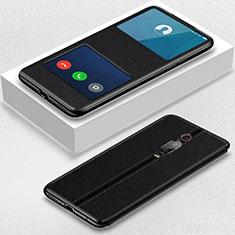 Xiaomi Mi 9T Pro用手帳型 レザーケース スタンド カバー T02 Xiaomi ブラック