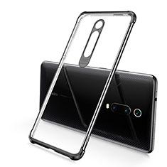Xiaomi Mi 9T Pro用極薄ソフトケース シリコンケース 耐衝撃 全面保護 クリア透明 S03 Xiaomi ブラック