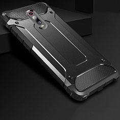 Xiaomi Mi 9T Pro用360度 フルカバー極薄ソフトケース シリコンケース 耐衝撃 全面保護 バンパー Xiaomi ブラック