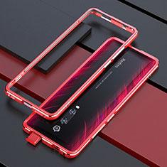 Xiaomi Mi 9T Pro用ケース 高級感 手触り良い アルミメタル 製の金属製 バンパー カバー Xiaomi レッド
