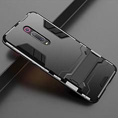 Xiaomi Mi 9T Pro用ハイブリットバンパーケース スタンド プラスチック 兼シリコーン カバー Xiaomi ブラック