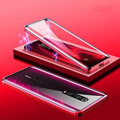 Xiaomi Mi 9T Pro用ケース 高級感 手触り良い アルミメタル 製の金属製 360度 フルカバーバンパー 鏡面 カバー M01 Xiaomi レッド