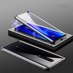 Xiaomi Mi 9T Pro用ケース 高級感 手触り良い アルミメタル 製の金属製 360度 フルカバーバンパー 鏡面 カバー M01 Xiaomi ブラック
