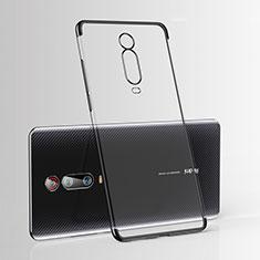 Xiaomi Mi 9T Pro用極薄ソフトケース シリコンケース 耐衝撃 全面保護 クリア透明 H03 Xiaomi ブラック