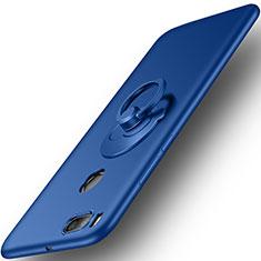 Xiaomi Mi A1用ハードケース プラスチック 質感もマット アンド指輪 Xiaomi ネイビー