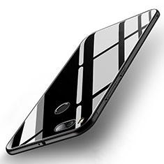 Xiaomi Mi A1用ハイブリットバンパーケース プラスチック 鏡面 カバー Xiaomi ブラック