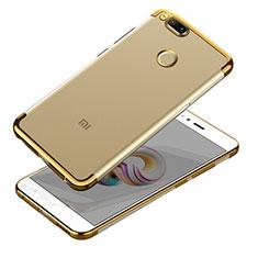 Xiaomi Mi A1用極薄ソフトケース シリコンケース 耐衝撃 全面保護 クリア透明 T10 Xiaomi ゴールド