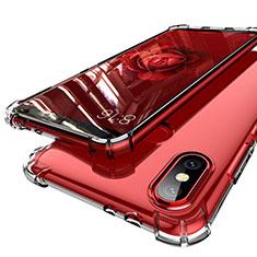 Xiaomi Mi A2用極薄ソフトケース シリコンケース 耐衝撃 全面保護 クリア透明 H01 Xiaomi クリア