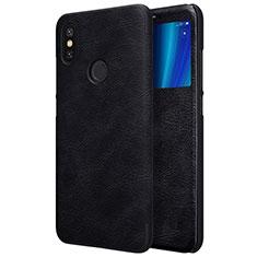 Xiaomi Mi A2用手帳型 レザーケース スタンド Xiaomi ブラック