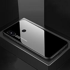Xiaomi Mi A2用ハイブリットバンパーケース プラスチック 鏡面 虹 グラデーション 勾配色 カバー M01 Xiaomi ブラック