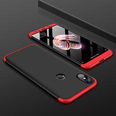 Xiaomi Mi A2用ハードケース プラスチック 質感もマット 前面と背面 360度 フルカバー Xiaomi レッド・ブラック