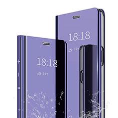 Xiaomi Mi A2用手帳型 レザーケース スタンド 鏡面 カバー Xiaomi パープル