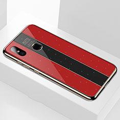 Xiaomi Mi A2用ハイブリットバンパーケース プラスチック 鏡面 カバー M02 Xiaomi レッド